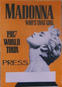 Madonna Who's That Girl Tour Press